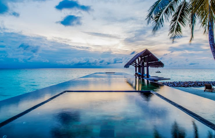Amazing pool at the One & Only Reethi Rah resort in the Maldives