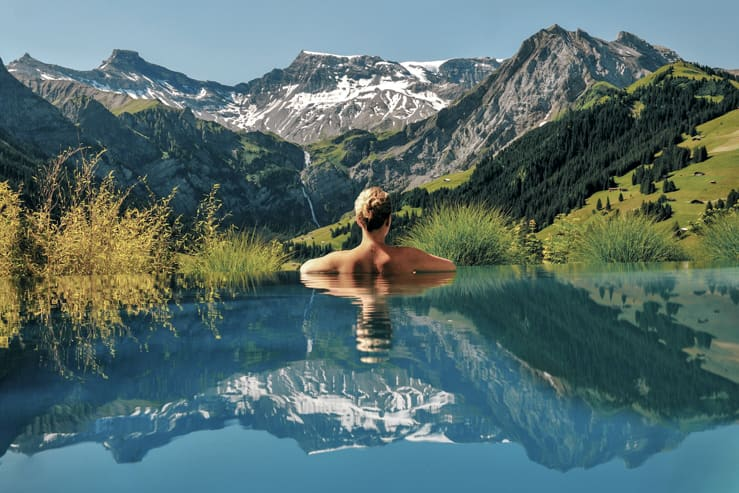 Infinity Pool, The Cambrian Hotel Adelboden, Switzerland