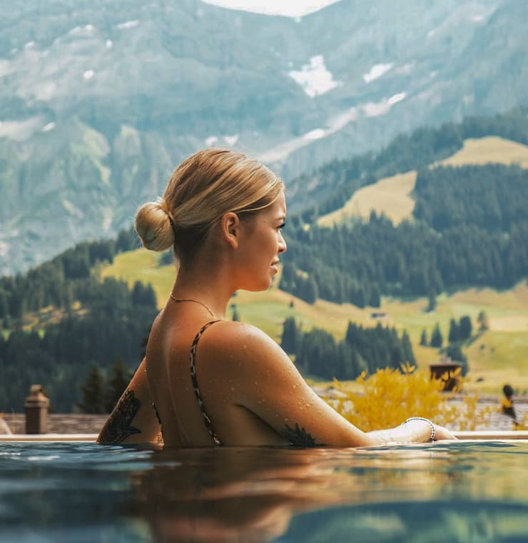 Infinity Pool at the The Cambrian Hotel Adelboden in Switzerland
