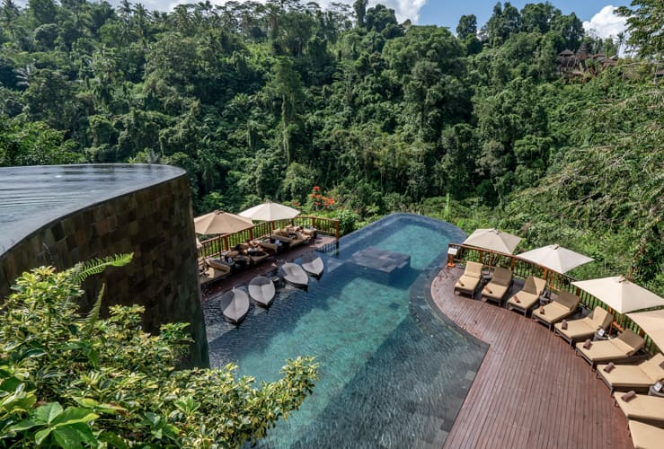 Infinity pool at Ubud Hanging Gardens, Bali, Indonesia