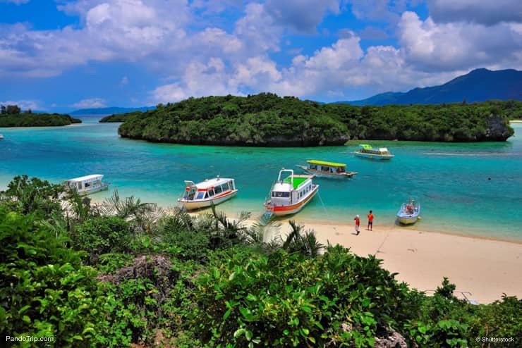 Lansdcape of Kabira Bay, Okinawa, Japan