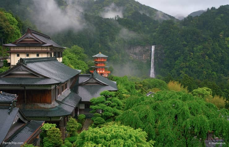 Nachi Taisha Shrine, Seigantoji Pagoda and Nachi Waterfall in Japan
