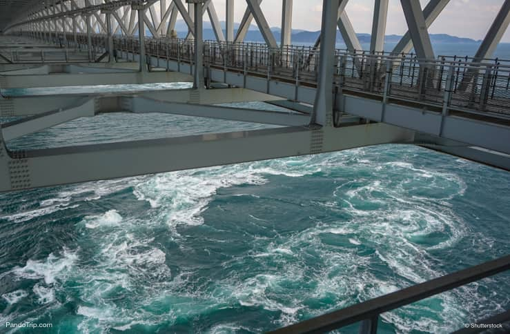 Naruto Whirlpools. View from Naruto Bridge