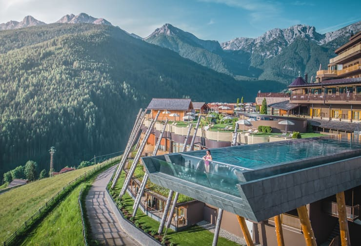 One of the best pools in the world. Alpin Panorama Hotel Hubertus, Italy