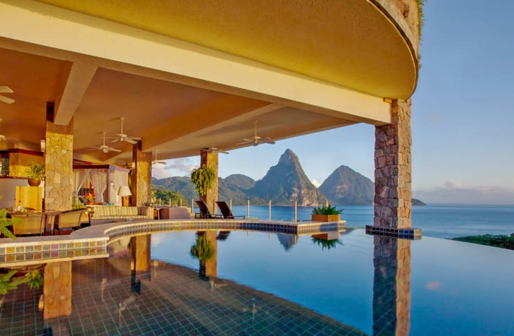 Private Infinity Pool, Jade Mountai, Saint Lucia