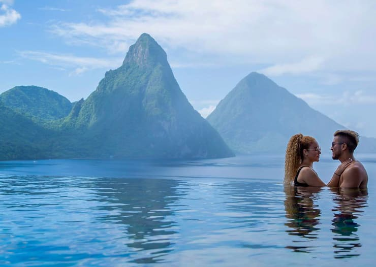 Private Infinity Pool at Jade Mounain Saint Lucia