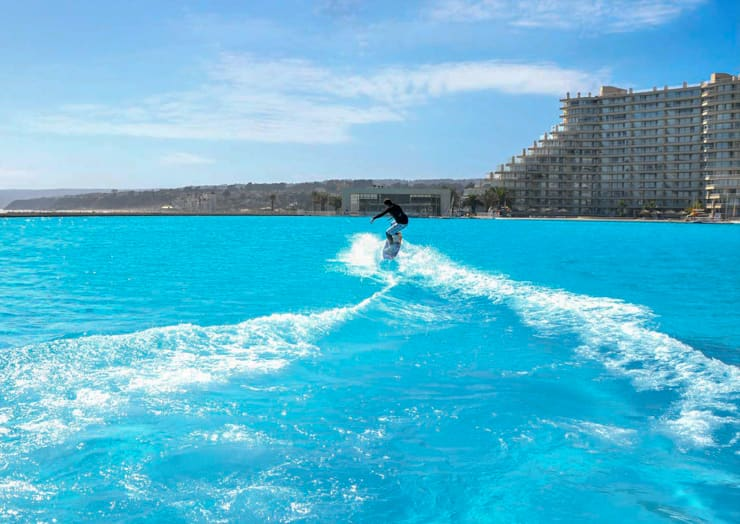Watersport activities at Pool at San Alfonso del Mar Resort, Algarrobo, Chile 3