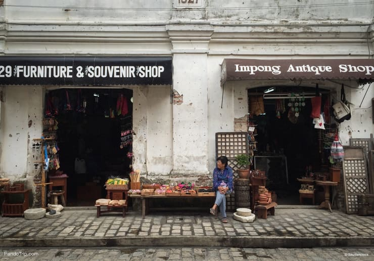 A Souvenir shop in Vigan, Philippines