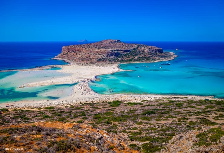 Balos lagoon (Balos beach) near Chania Town, Crete island, Greece