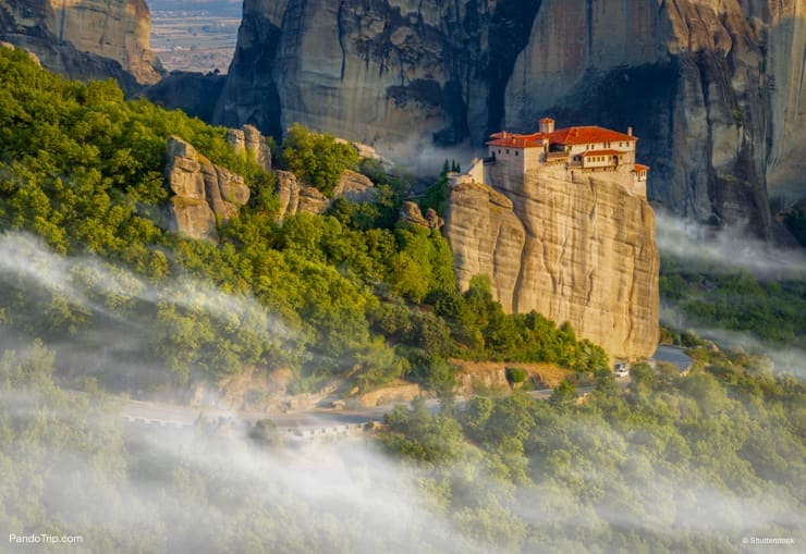 Great Monastery of Varlaam on the high rock in Meteora, Thessaly, Greece