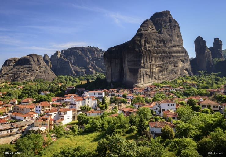 Kastraki town, Meteora mountains in Thessaly, Greece