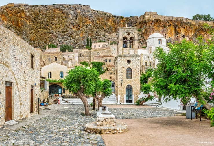 Monemvasia town, Peloponnese, Greece