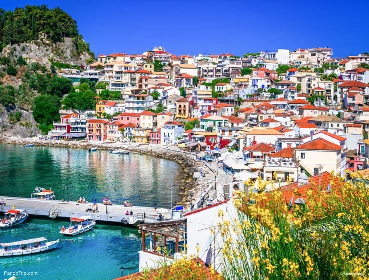Parga town in Greece