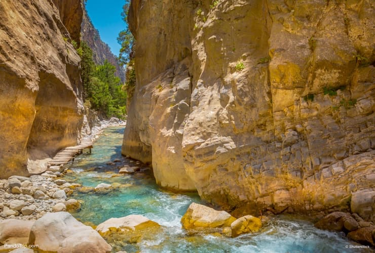 Samaria Gorge is one hour drive from Chania, Crete, Greece