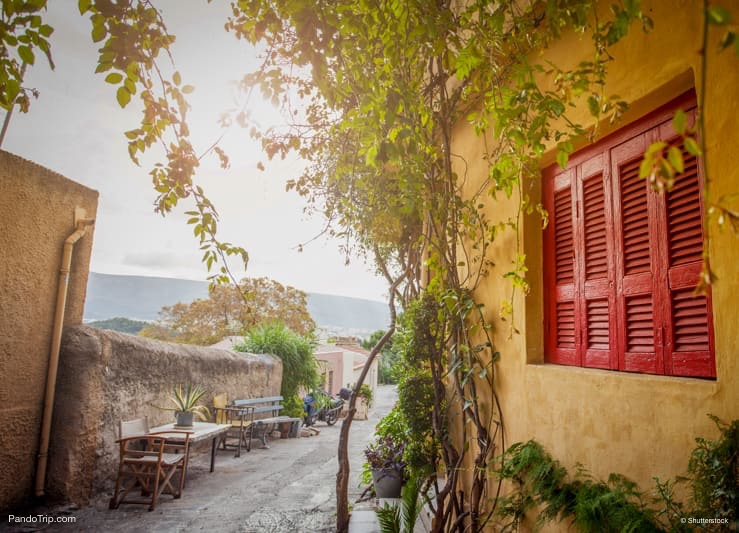 Traditional house in Plaka, Athens, Greece