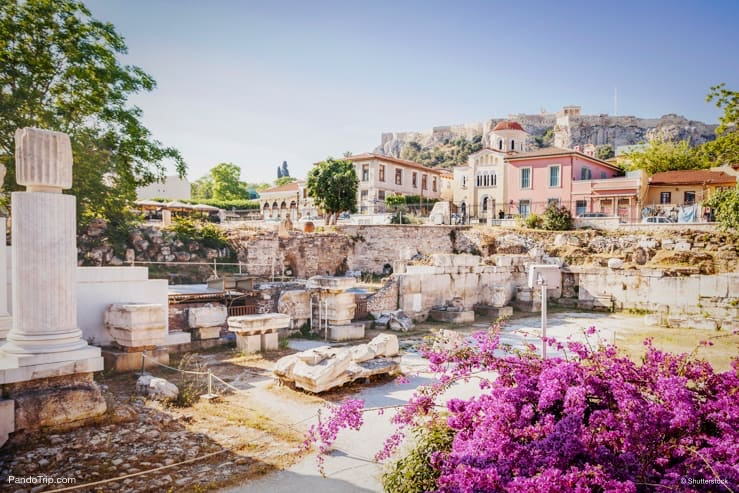 View of Plaka in Athens, Greece