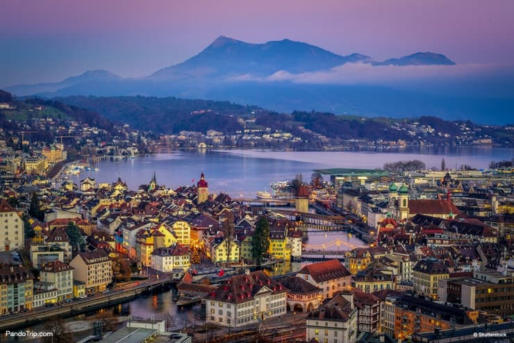Aerial view of Lucerne, Switzerland
