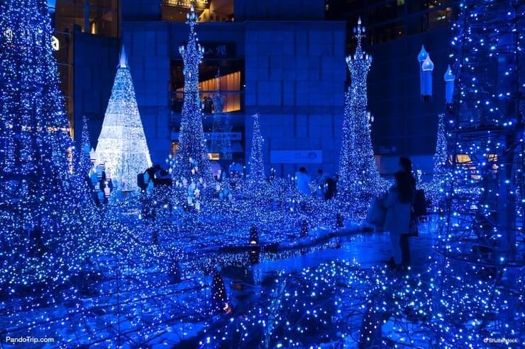 Caretta Shiodome Illumination in Tokyo, Japan