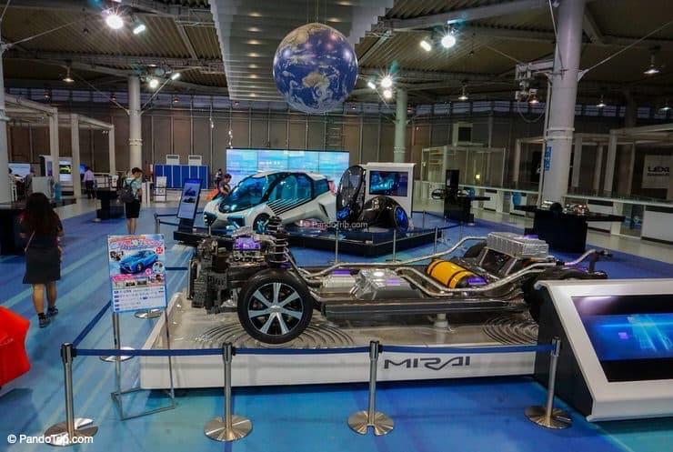 Cars exhibition at Toyota Mega Web in Odaiba, Tokyo, Japan