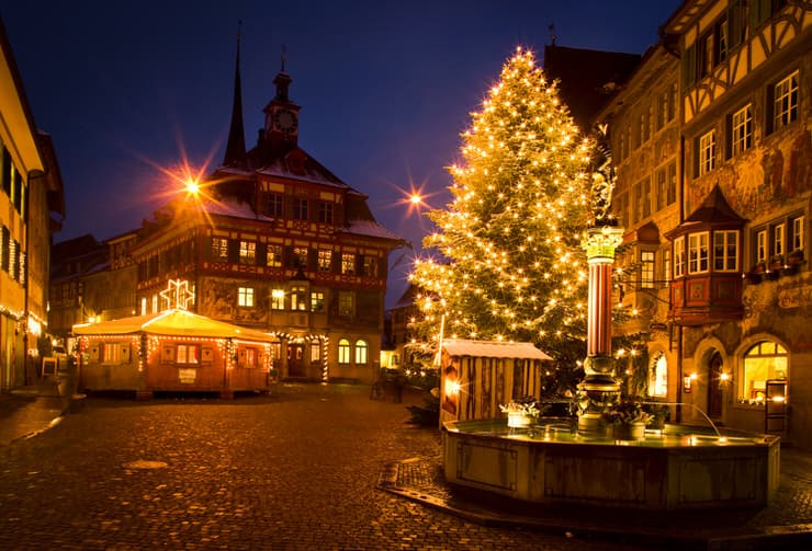 Christmas market in Stein am Rhein in Switzerland