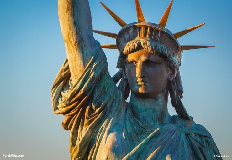 Close-up of the Statue Of Liberty, Odaiba, Tokyo, Japan