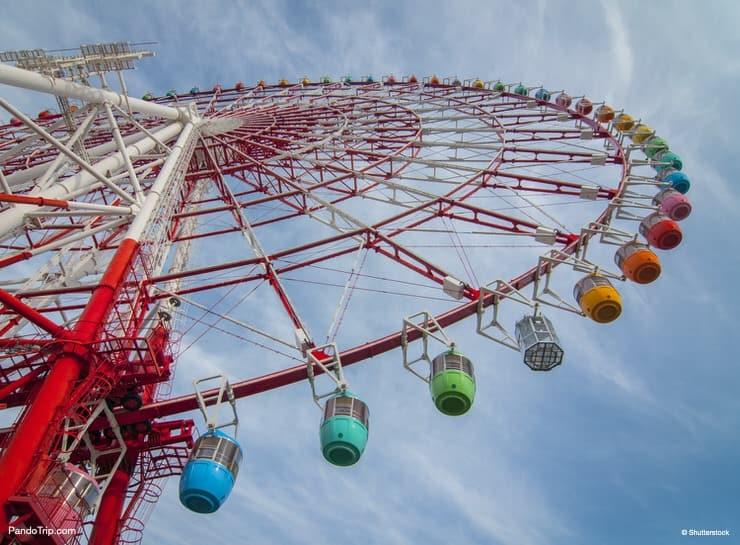Colourful Ferris Wheel in Odaiba, Tokyo, Japan