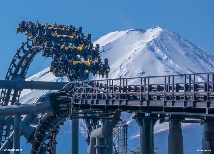 Eejanaika Roller coster at Fuji-Q Highland in Japan