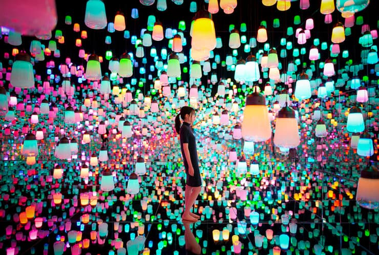 Forest of Lamps, TeamLab Borderless, Mori Digital Art Museum