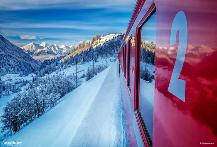 Glacier Express, St Moritz, Switzerland