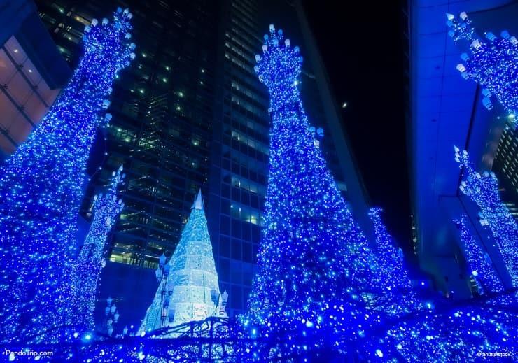 Illuminations at Caretta Shiodome in Tokyo, Japan