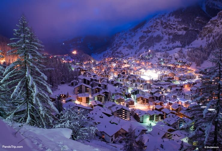 Lovely Christmas Zermatt village in Switzerland