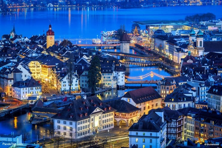 Lucerne during Christmas in Switzerland