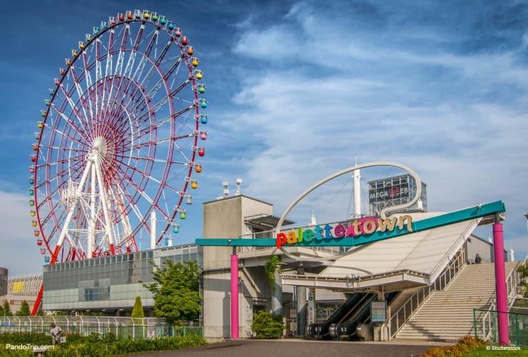 Palette Town Ferris Wheel in Odaiba, Tokyo, Japan