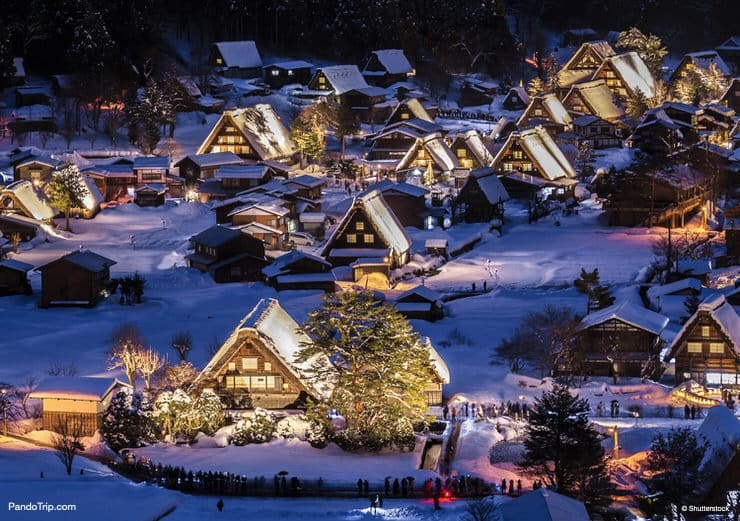 Shirakawa-go Winter Light-Up in Japan