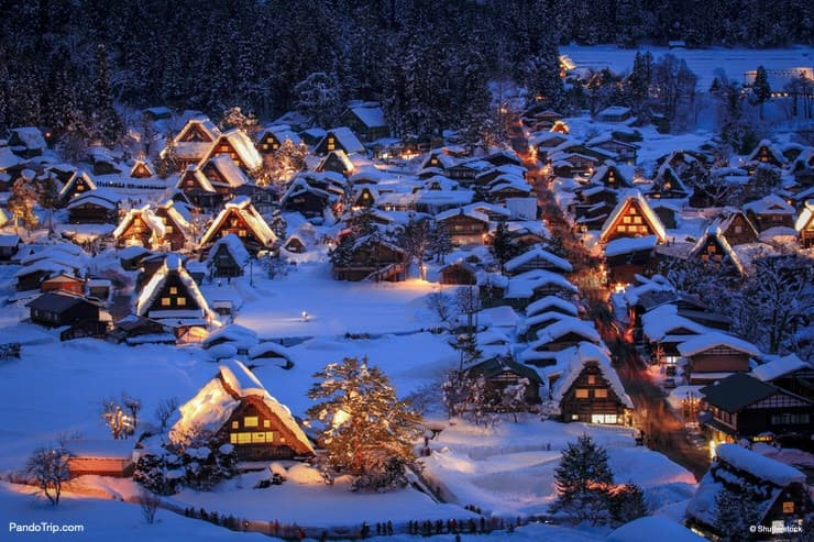 Shirakawa-go Winter Village in Japan