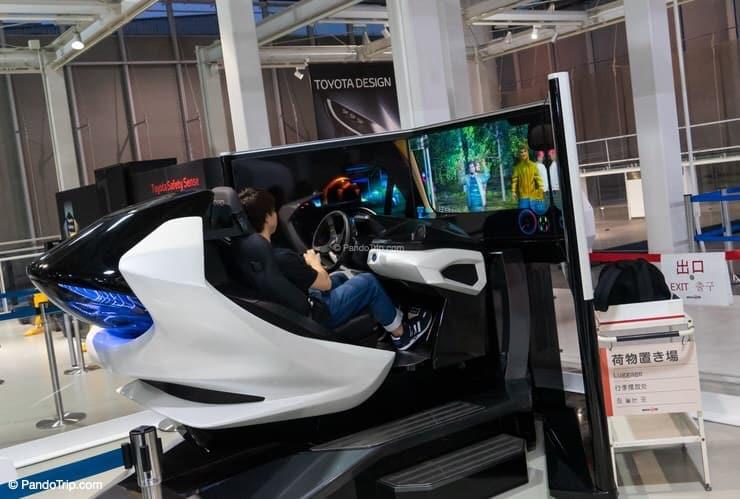 Simulator experience at Toyota Mega Web in Odaiba, Tokyo, Japan