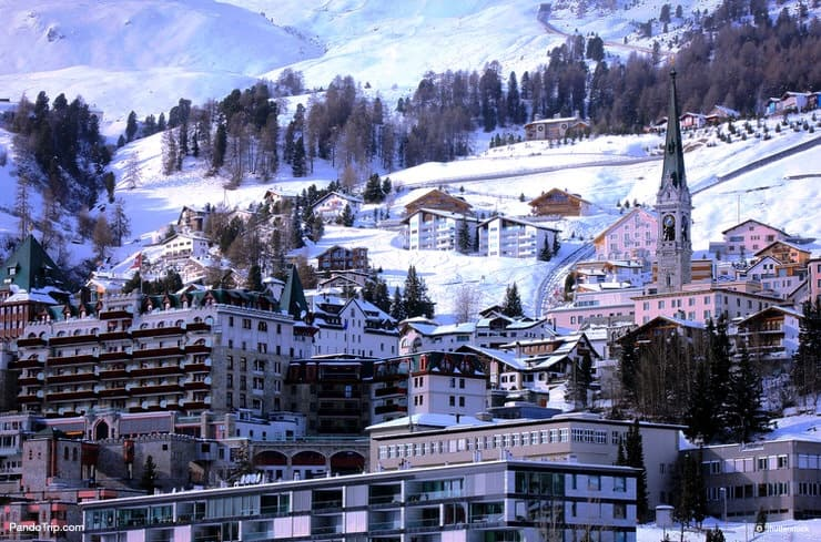 St. Moritz during winter in Switzerland