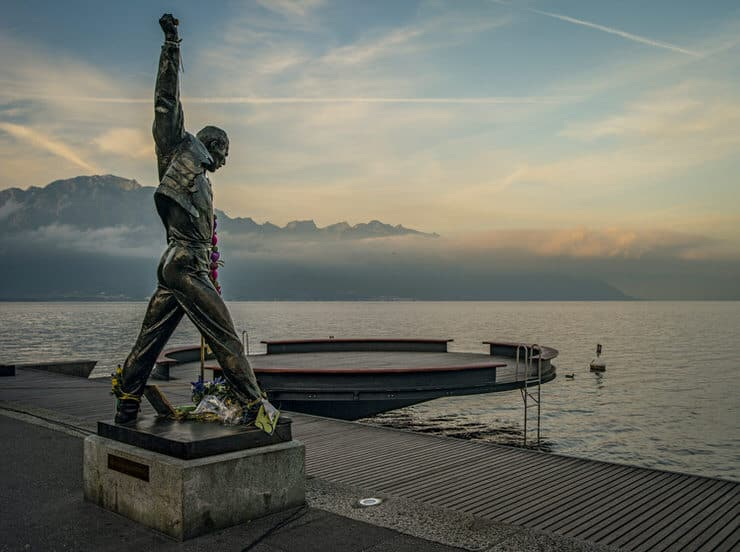 Statue of Freddie Mercury in Montreux