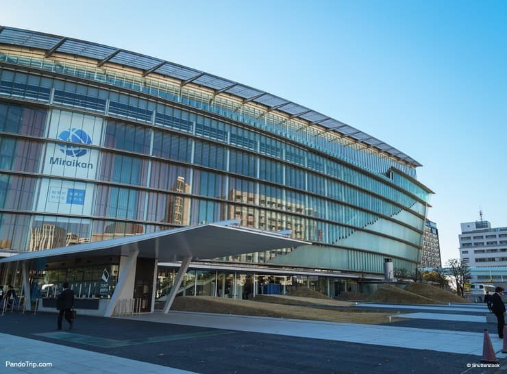 The National Museum of Emerging Science and Innovation known as the Miraikan in Odaiba, Japan