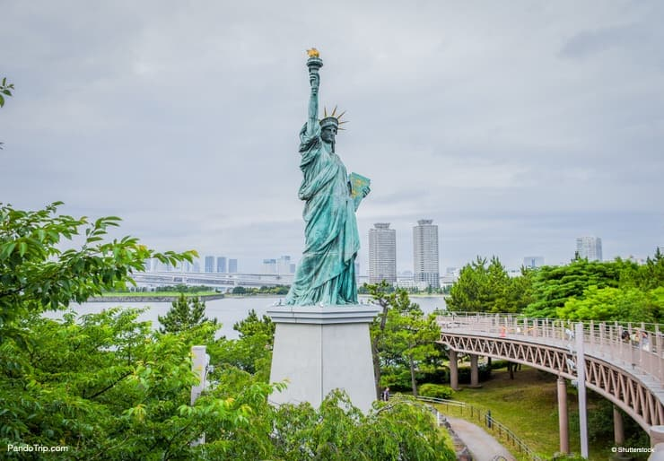 The Statue Of Liberty in Odaiba, Tokyo, Japan