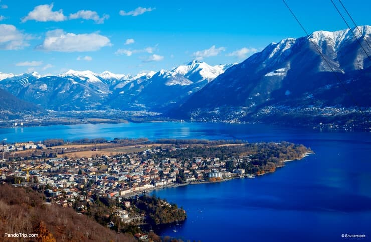 Winter landscape of Locarno, Switzerland