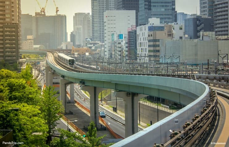 Yurikamome Line to Odaiba In Tokyo, Japan