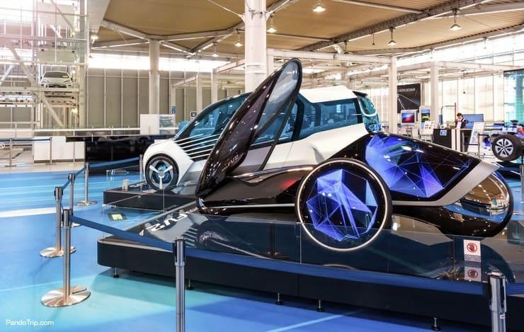 Futuristic cars in Toyota Mega Web, Odaiba
