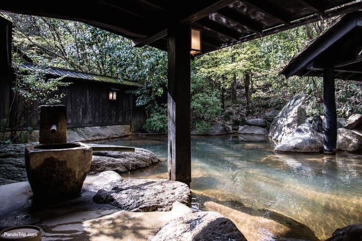 Japanese hot spring or Onsen