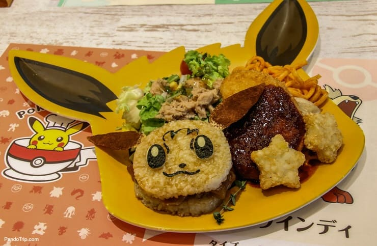 The Evui meal set in Pokemon cafe