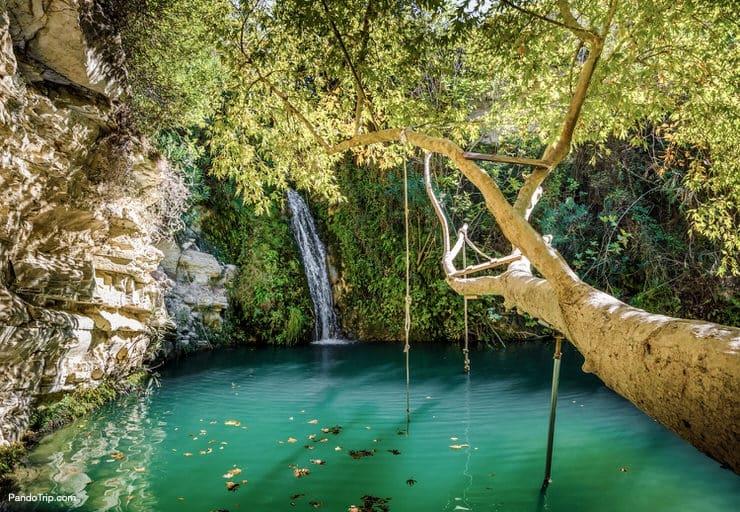 Adonis Baths, the famous spot near Paphos, Cyprus