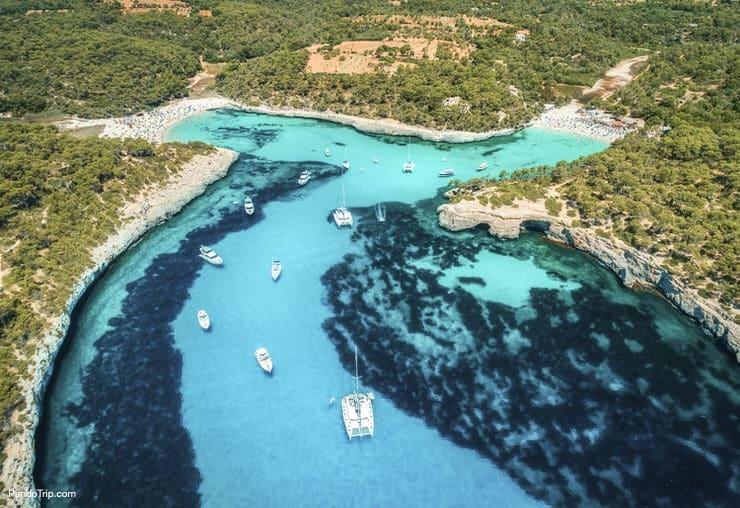 Aerial view of Mallorca, Spain