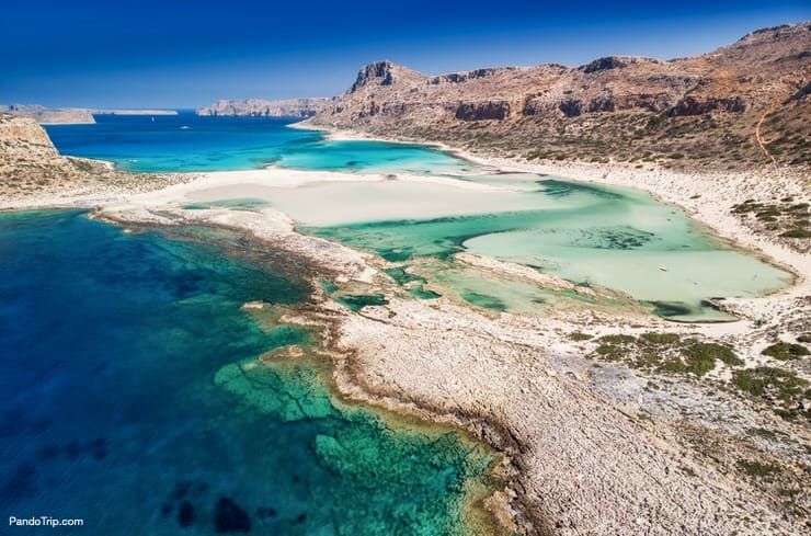 Balos lagoon on Crete island, Greece
