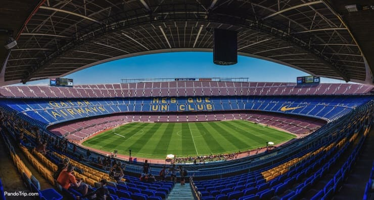 Camp Nou Stadium in Barcelona, Spain