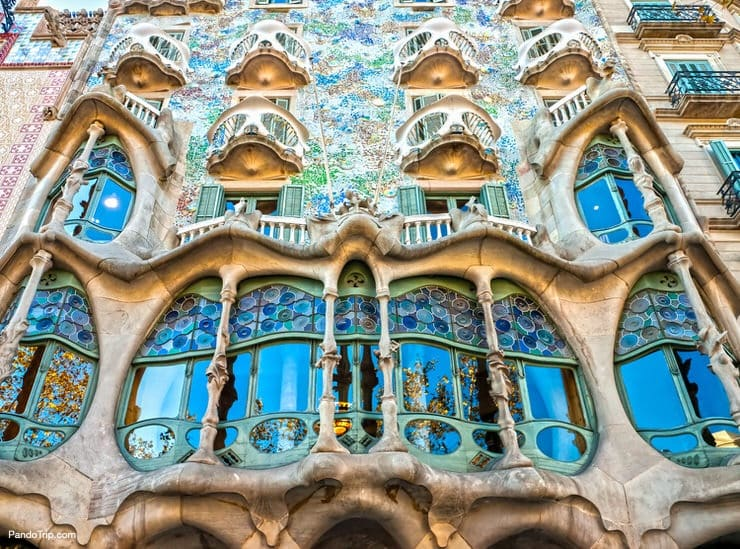 Casa Battlo designed by Antoni Gaudi­ in Barcelona